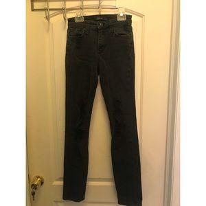 Black Distressed High Rise Skinny Joe's Jeans 24